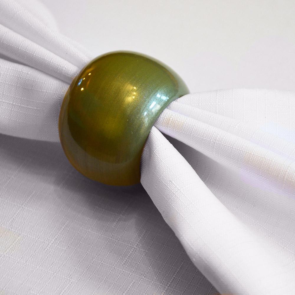 Kroužek na ubrousky olivová