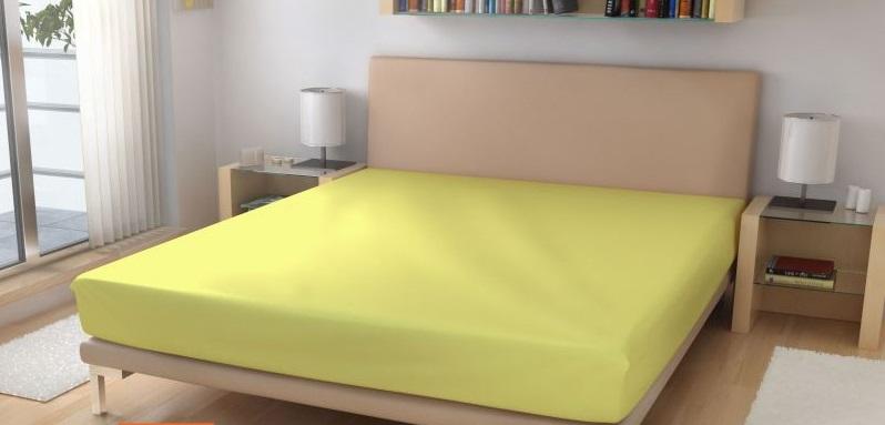 Prostěradlo elastické froté sv.žlutá 90x200 cm
