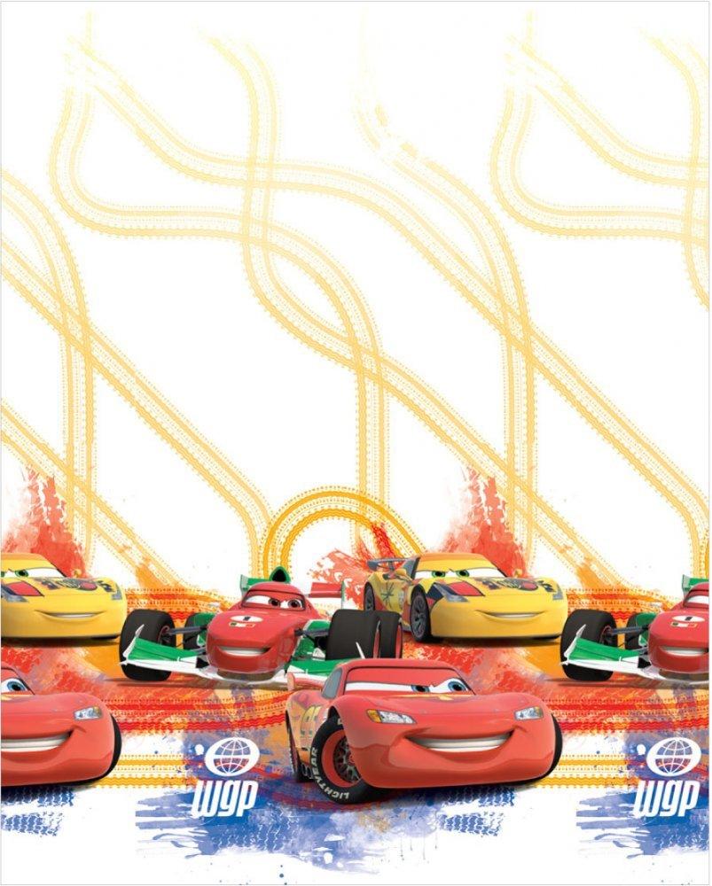 Dětská záclona CARS voál 160cm obšít okraje (23 Kč/bm) a našít stužku Small 2,5cm (31 Kč/bm) 160