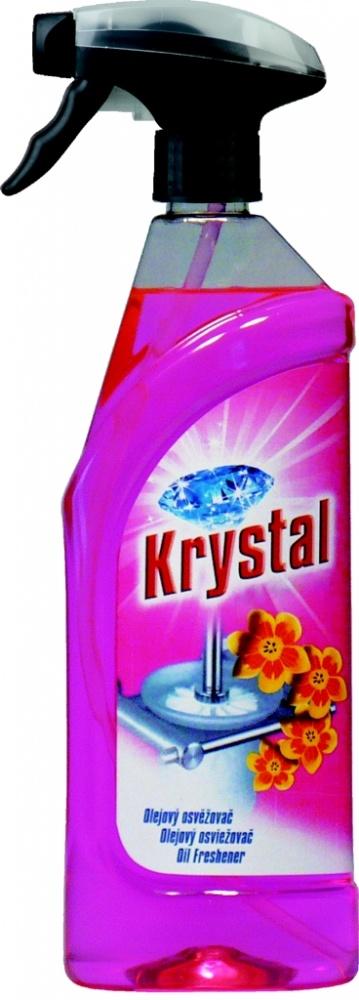 Osvěžovač olejový růžový v rozprašovači Krystal - 750 ml