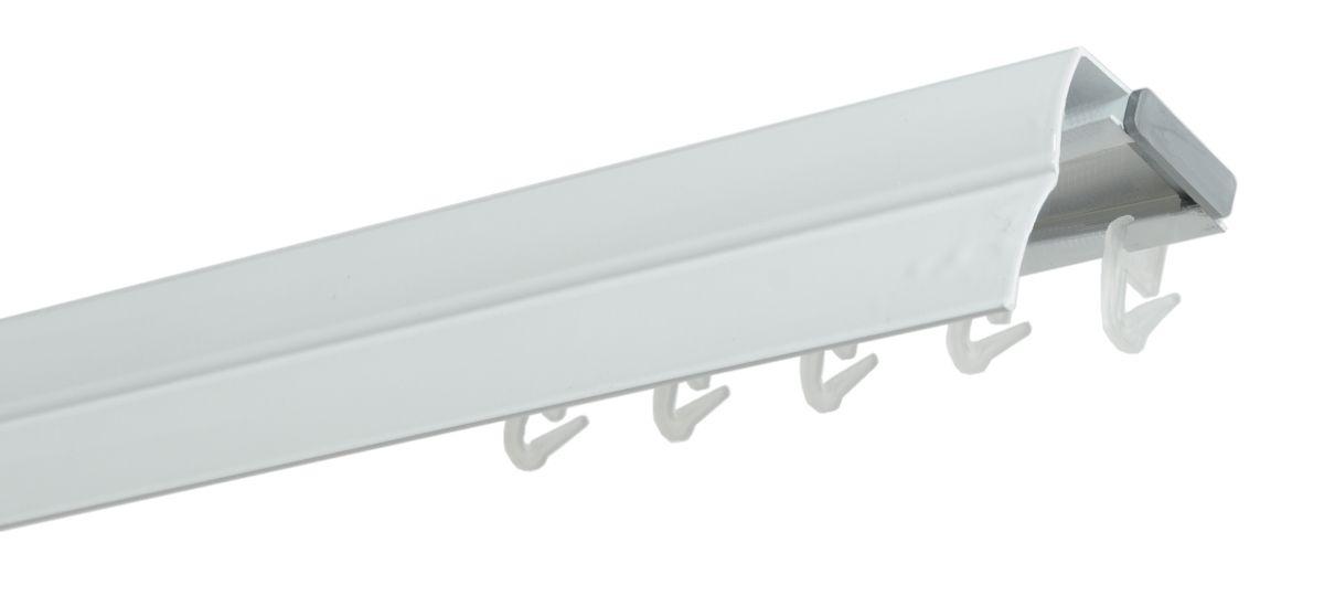 Hliníková kolejnicová garnýž bílá - 350cm