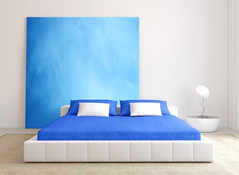 Prostěradlo jersey modré 180x200 cm
