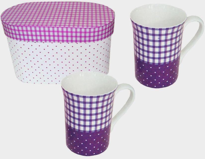 Hrnek v dárkovém balení - fialová