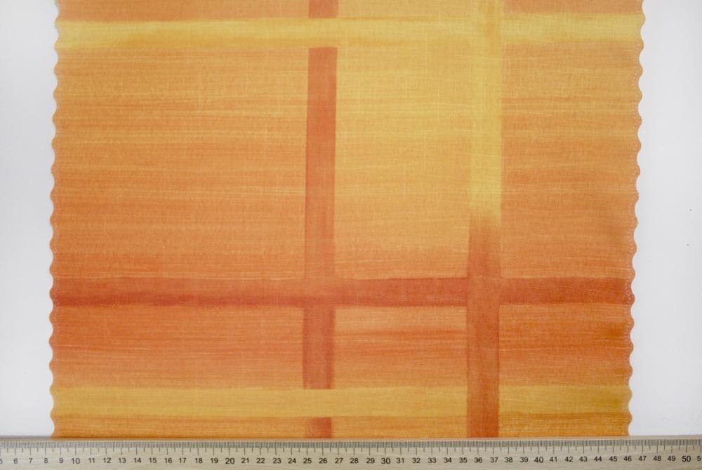 Dekorační látka kostka oranžová bez obšití 38