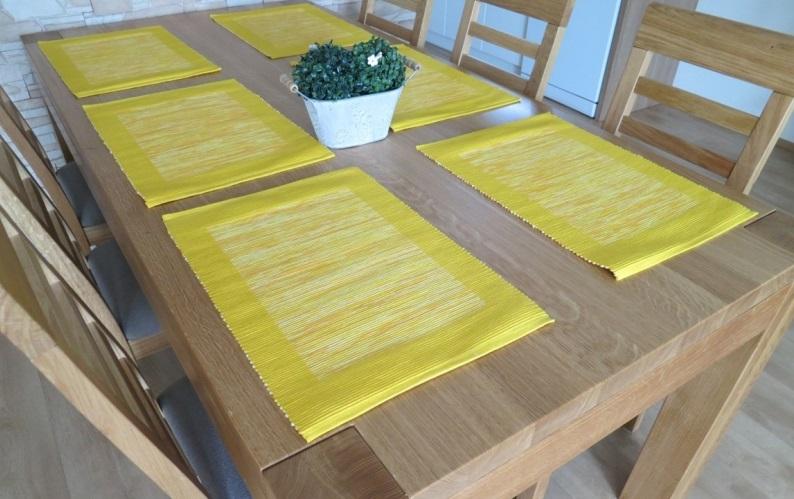 Prostírání Hera žlutá 33x49cm
