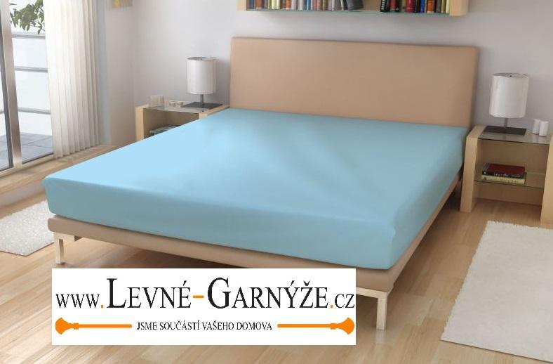 Prostěradlo elastické froté modré 90x200 cm