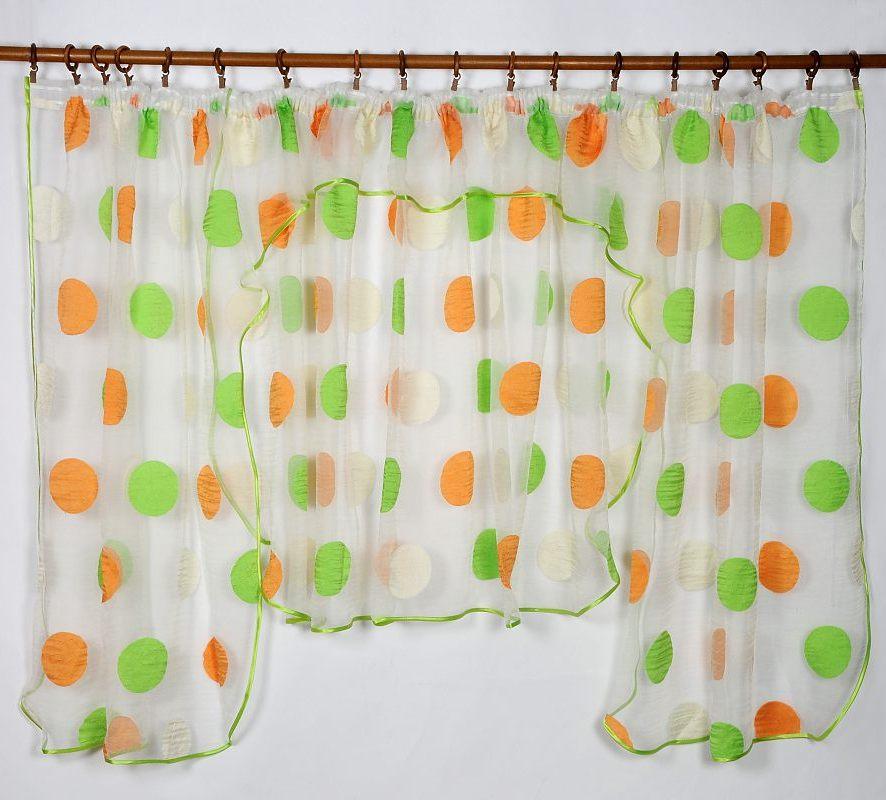 Záclona CIRKULO GREEN 135x400cm