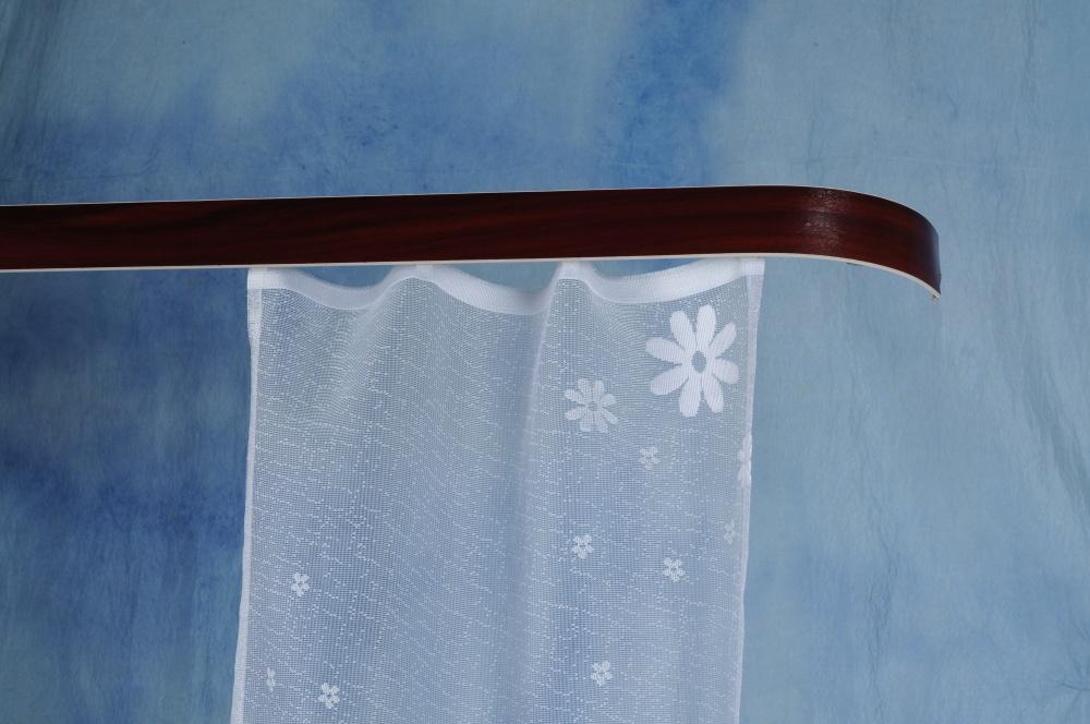 Kolejnicová garnýž mahagonové dřevo - 120 cm jednoduchá