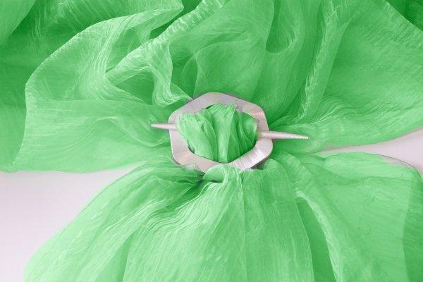 Organza kreš - Zelená bez obšití 270