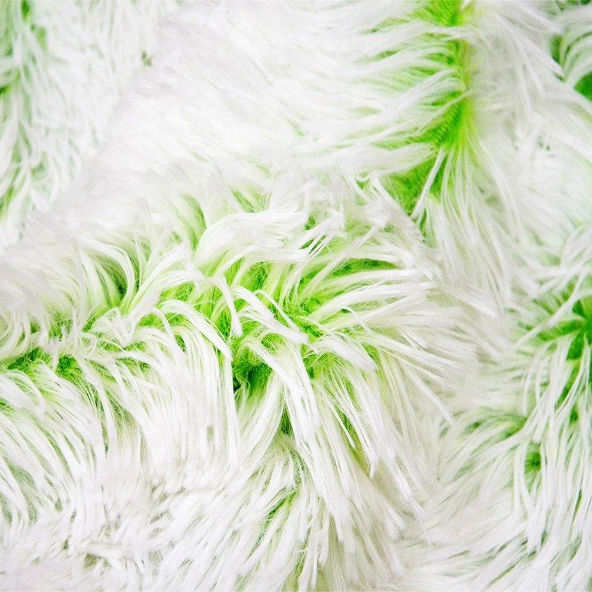 Plyš dlouhý vlas - podbarvený zelený