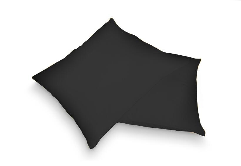Povlak na polštář černá 40 x 60 cm - jersey