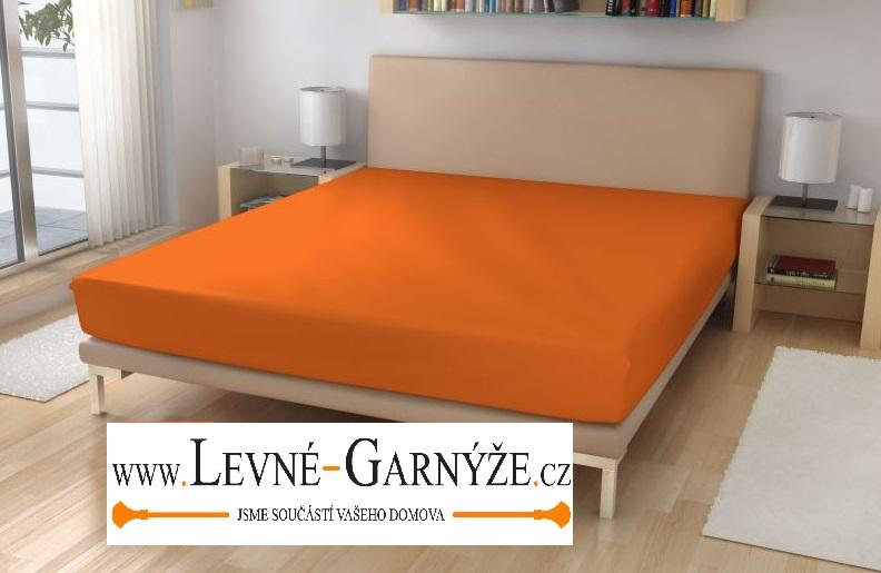 Prostěradlo elastické froté oranžová 180x200 cm