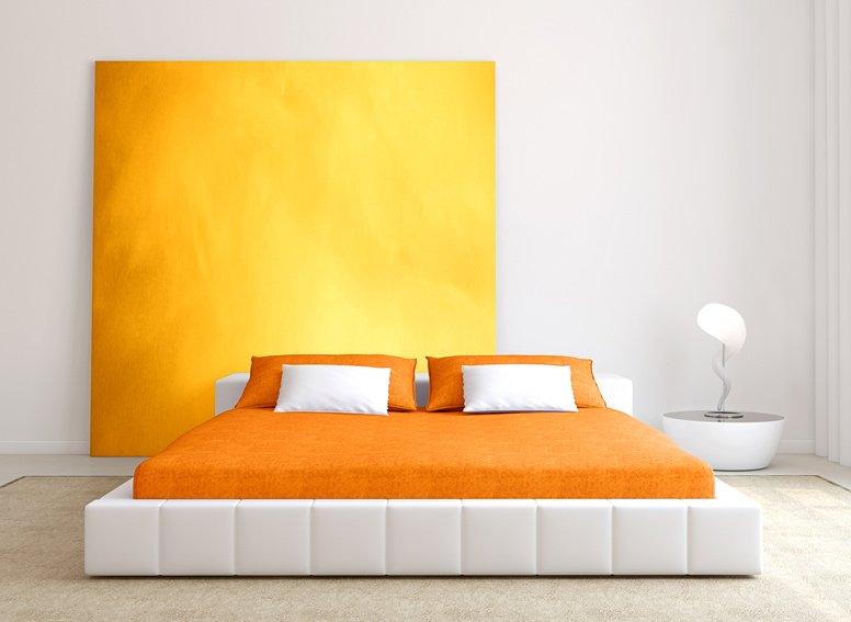 Prostěradlo jersey oranžové 180x200 cm