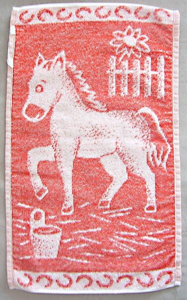 Ručník koník červený 30x50cm