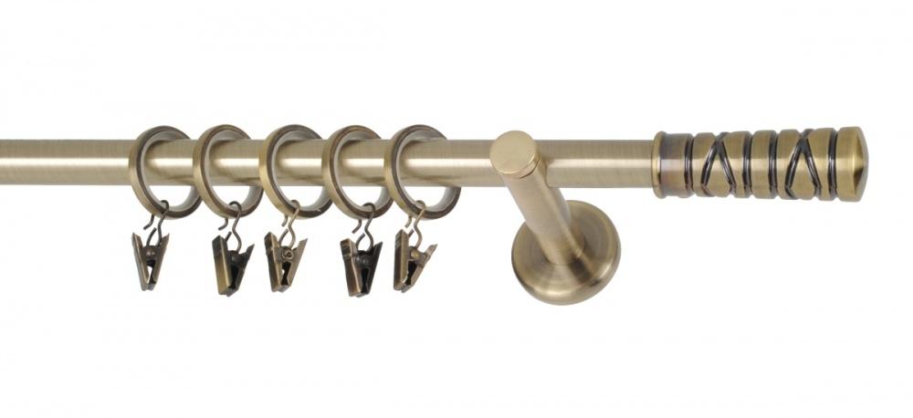 Garnýže moderní Torino mosaz - 240 cm
