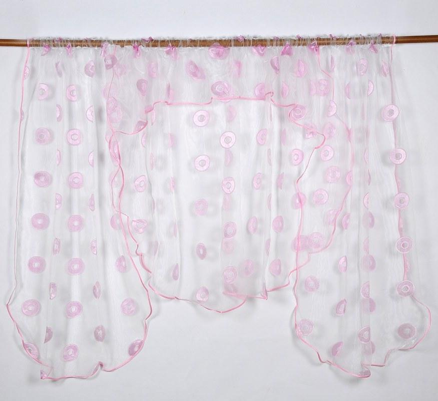 Záclona RUEDA PINK 135x400cm