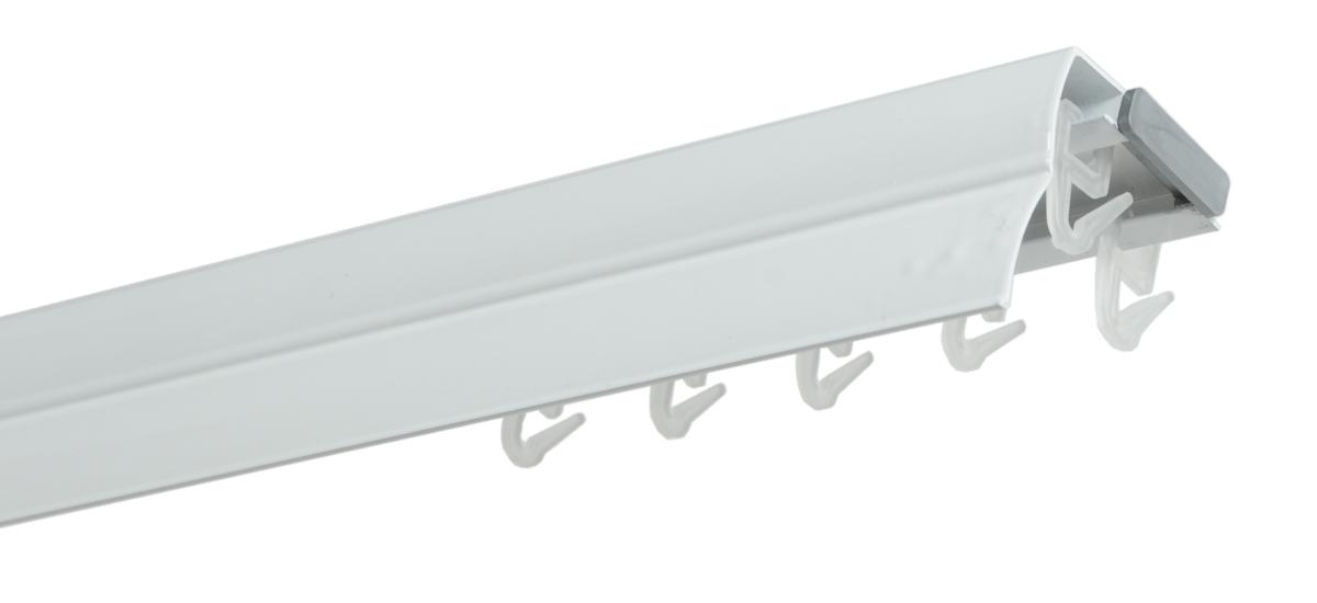 Hliníková kolejnicová garnýž bílá - 200cm dvojitá
