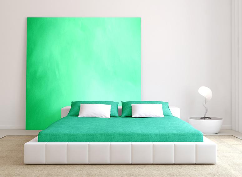 Prostěradlo froté zelené 180x200 cm