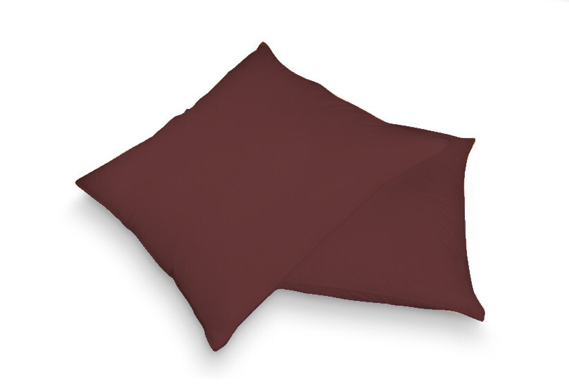 Povlak na polštář tm. hnědá 40 x 60 cm - jersey