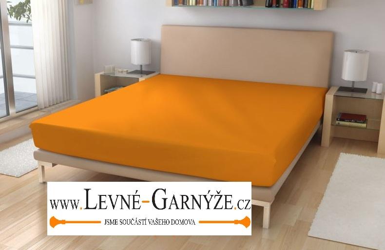 Prostěradlo elastické froté pomerančová 180x200 cm