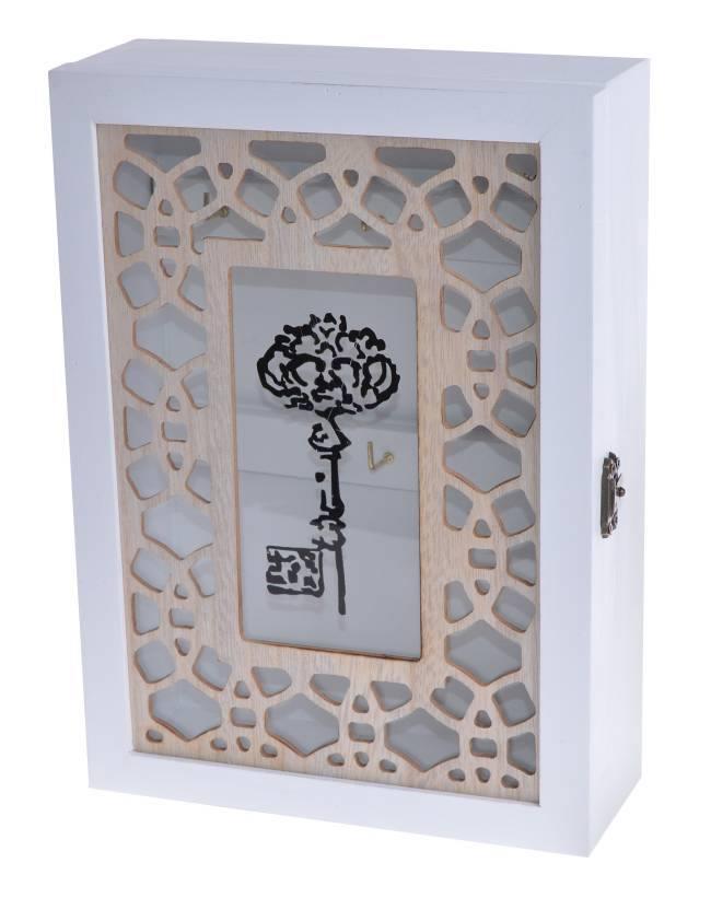 Dřevěná skříňka na klíče