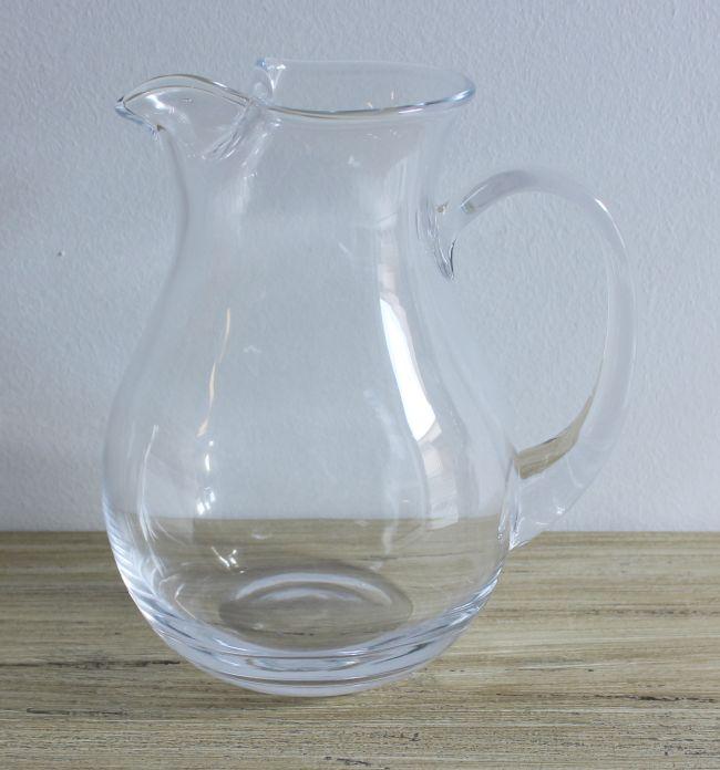 Džbán skleněný buclatý