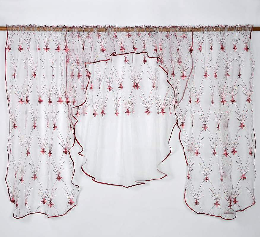 Záclona PAPILLON ROJO 135x400cm