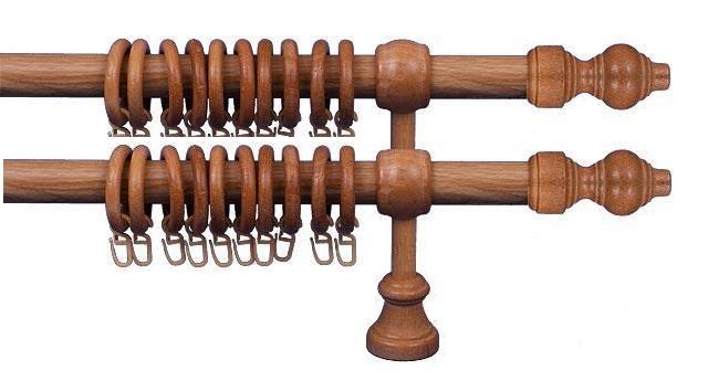 Garnýže Dub světlý 350 cm, dvojitá