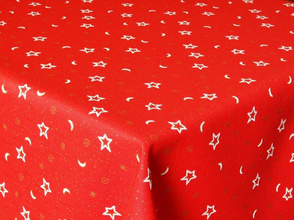Látka hvězda červená bez obšití 160
