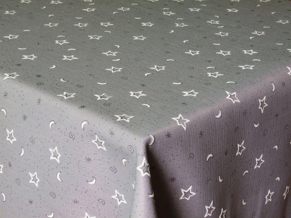 Vánoční ubrus hvězda 120x140 Šedý