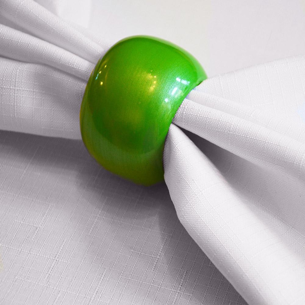 Kroužek na ubrousky zelená