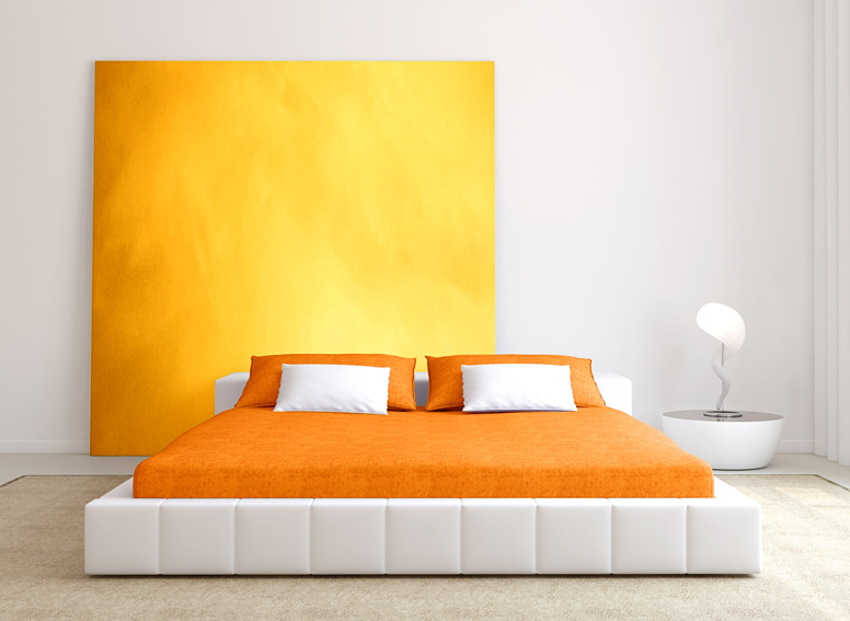 Prostěradlo froté oranžové 180x200 cm
