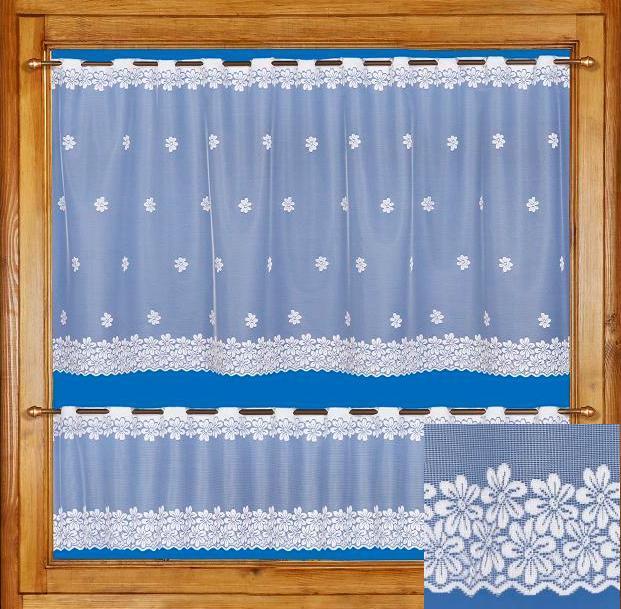Záclona FLORA obšít okraje (23 Kč/bm) 70