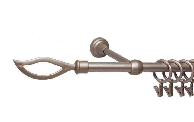 Garnýže kovové Plamen satina nerez 120 cm