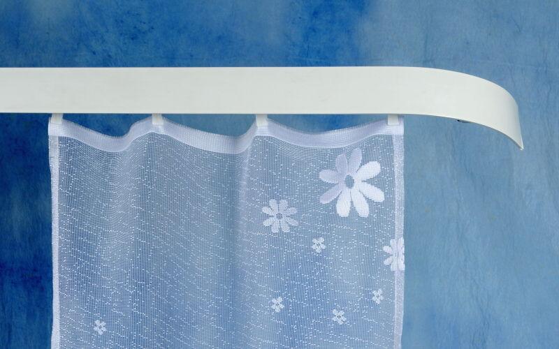 Kolejnicová garnýž zářivě bílá 150 cm jednoduchá