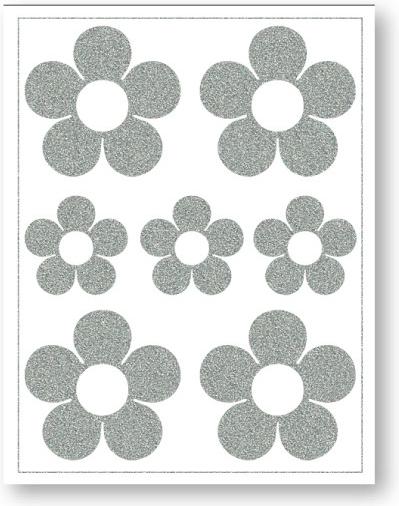 Nažehlovací reflexní fólie - Kytičky