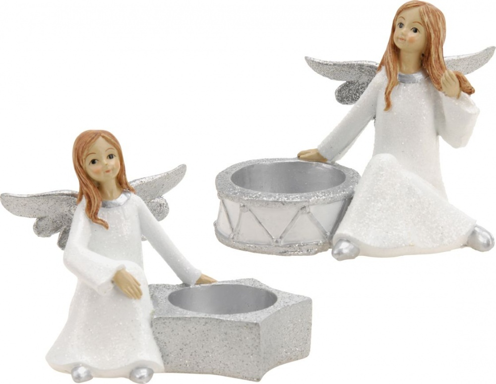 Svícen na čajovou svíčku - anděl