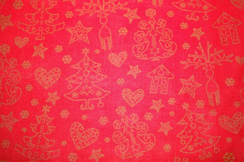 Dekorační látka Bavlna - vánoční motiv bez obšití 140