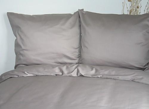 Povlečení bavlněný satén Uni šedé 200x220 cm