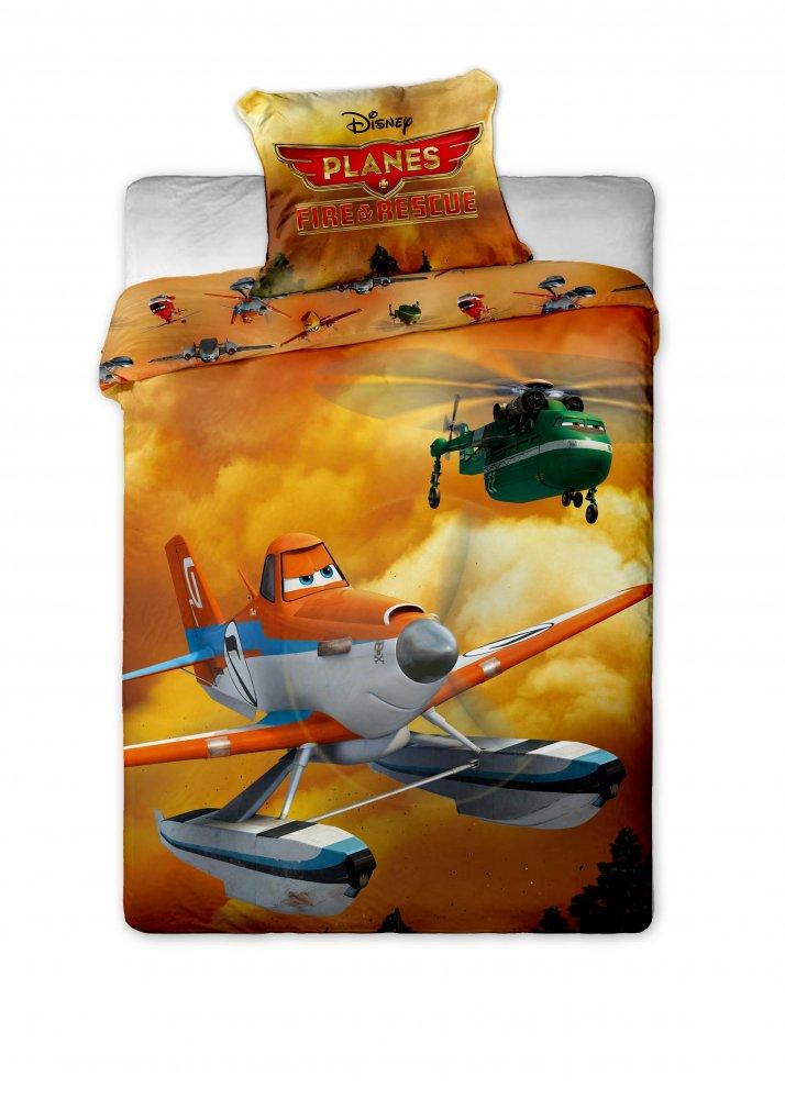 Povlečení bavlna Letadla - 140x200 cm