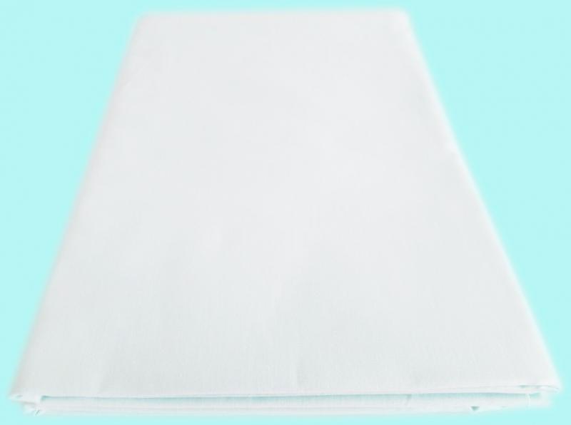 Prostěradlo Bavlna plátno s gumou 90 x 200 cm - Bílá