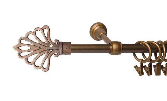 Garnýže kovové Modena zlatá 120 cm