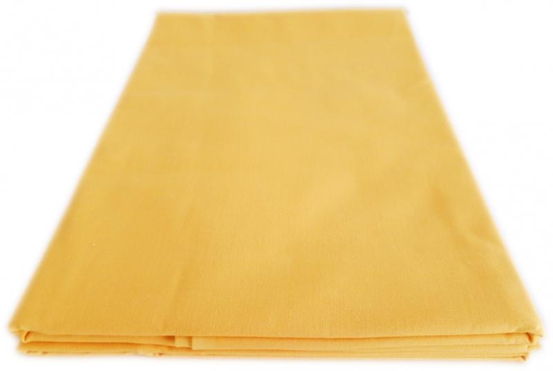Prostěradlo Bavlna plátno 240 x 140 cm - Žlutá