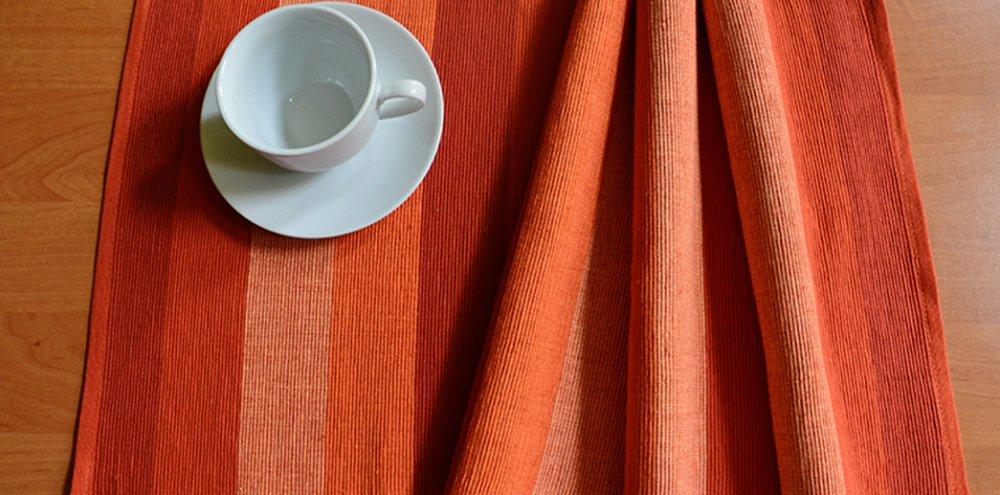 Prostírání proužky - oranžové