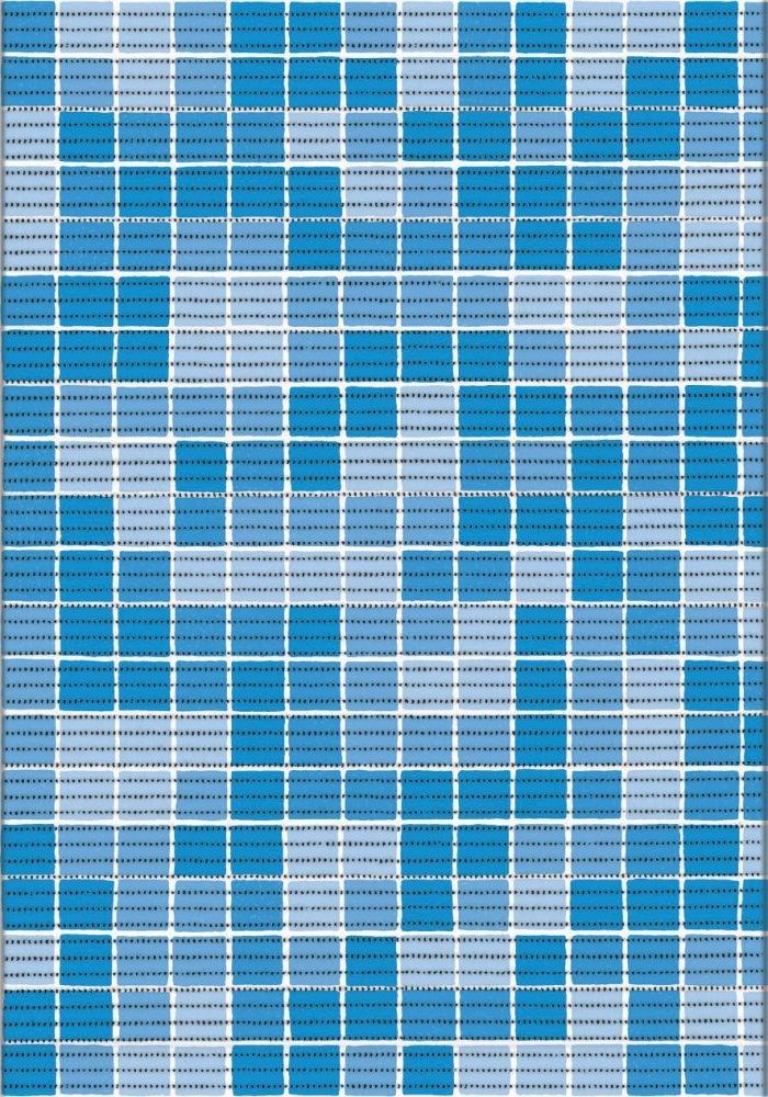 Koupelnová předložka pěnová - Kostka modrá
