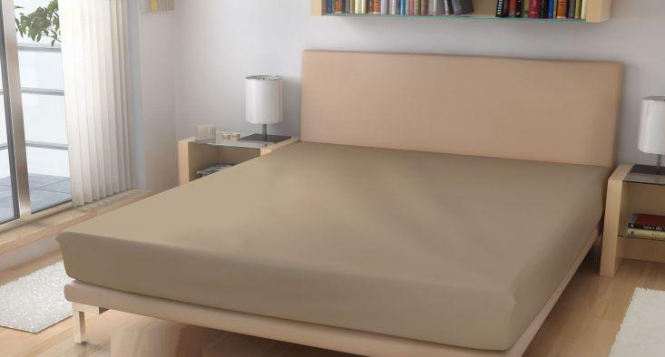 Prostěradlo elastické froté béžová 70x160 cm
