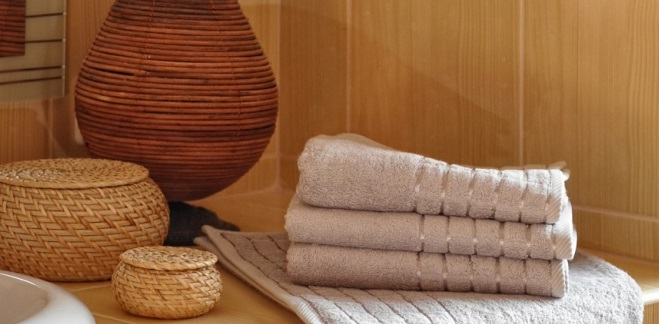 Ručník bambus 50 x 100 cm šedá