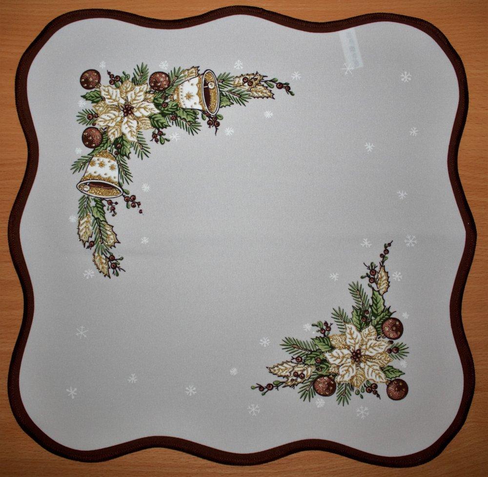 Vánoční ubrus Zvonky hnědé 40 x 90cm