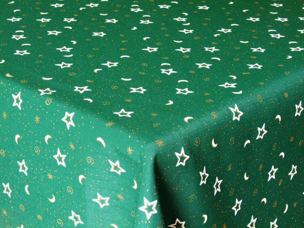 Vánoční ubrus hvězda 120x140 Zelený