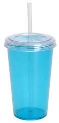 Kelímek plast s brčkem 480 ml